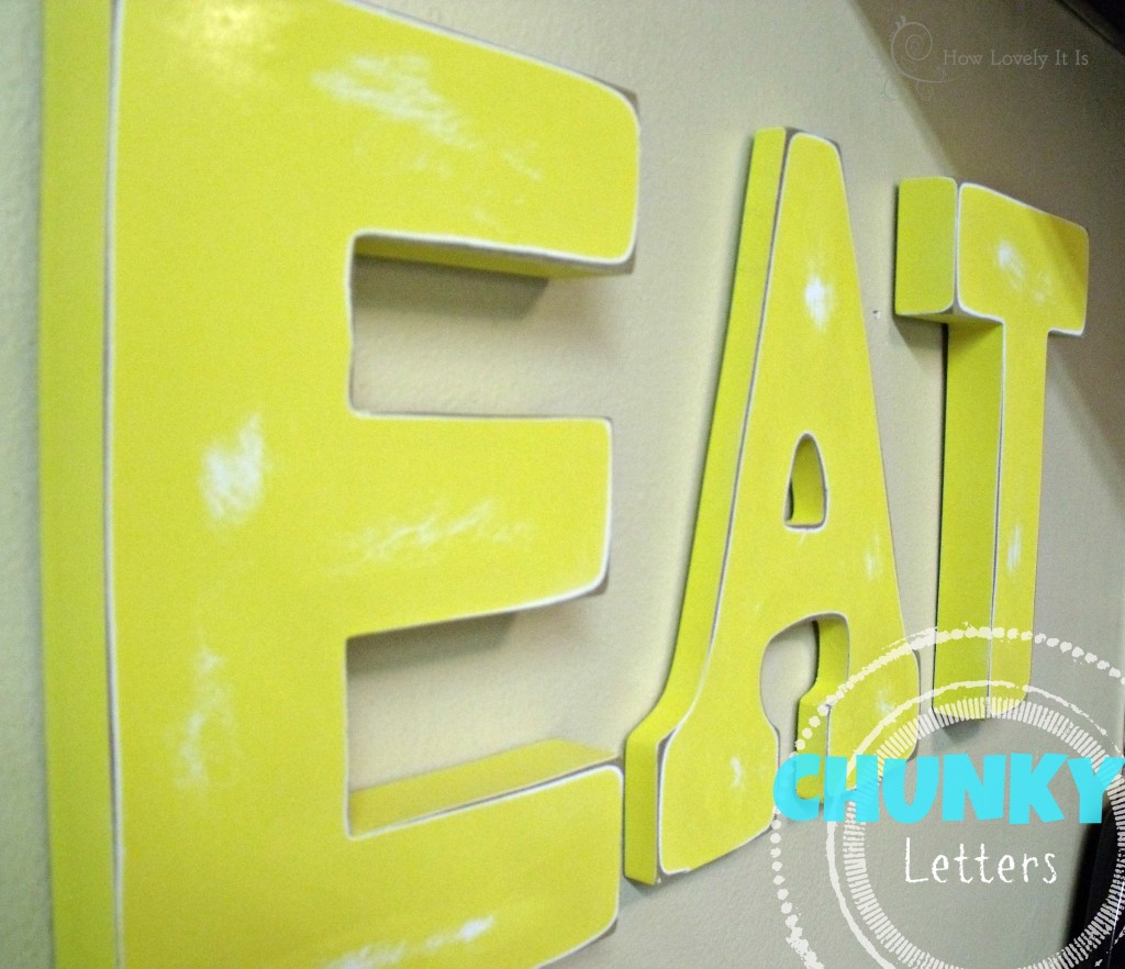 Chunky Wall Letters