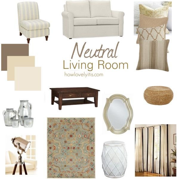 Neutral Living Room Moodboard