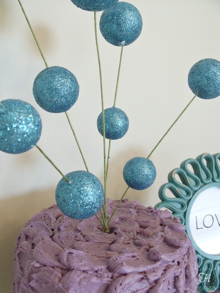 Purple and Turquoise Cake | How Lovely It Is